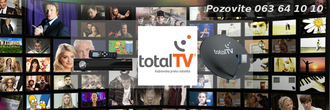 Ugradnja Total Tv - kablovska preko satelita